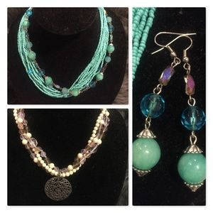 Bundle of 2 necklace and matching earring